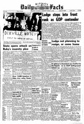 Redlands Daily Facts from Redlands, California on March 11, 1964 · Page 1