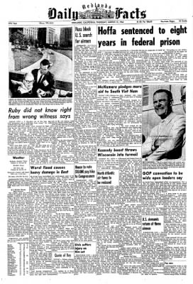 Redlands Daily Facts from Redlands, California on March 12, 1964 · Page 1