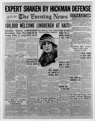 The Evening News from ,  on February 6, 1928 · Page 1