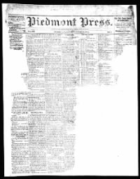 Sample Piedmont Press front page