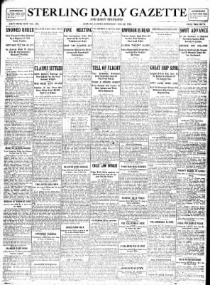 Sterling Standard from Sterling, Illinois on November 22, 1916 · Page 1