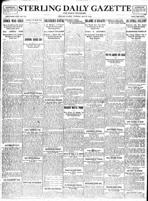 Sterling Standard from Sterling, Illinois on November 23, 1916 · Page 1