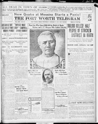 Fort Worth Star-Telegram from Fort Worth, Texas on December 30, 1908 · 1