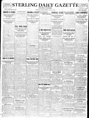 Sterling Standard from Sterling, Illinois on November 25, 1916 · Page 1