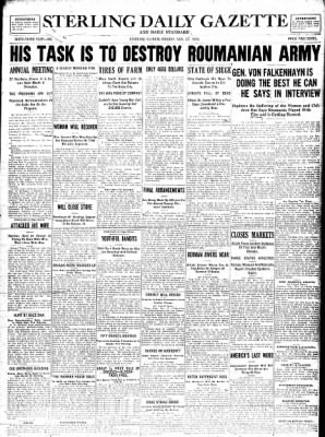 Sterling Standard from Sterling, Illinois on November 27, 1916 · Page 1