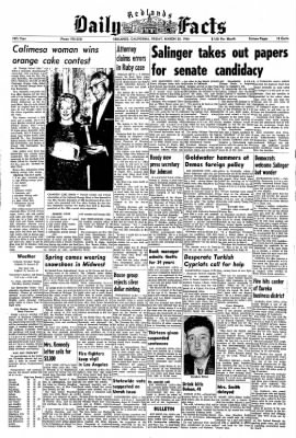 Redlands Daily Facts from Redlands, California on March 20, 1964 · Page 1