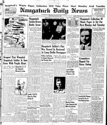 Naugatuck Daily News from Naugatuck, Connecticut on July 22, 1944 · Page 1
