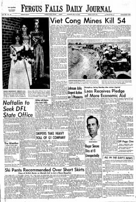 The Daily Journal from Fergus Falls, Minnesota on February 14, 1966 · Page 1