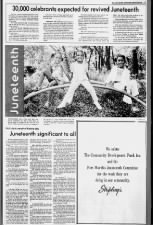 Juneteenth revival brings about renewed celebrations in Fort Worth, TX, 1975