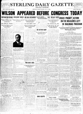 Sterling Standard from Sterling, Illinois on December 5, 1916 · Page 1