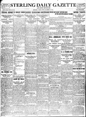 Sterling Standard from Sterling, Illinois on December 8, 1916 · Page 1