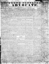 Sample North Carolina Advocate front page