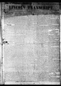 Sample Lincoln Transcript front page