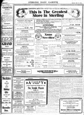 Sterling Standard from Sterling, Illinois on December 11, 1916 · Page 8