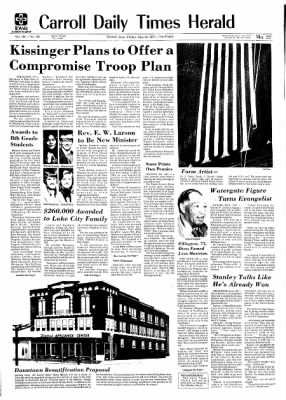 Carrol Daily Times Herald from Carroll, Iowa on May 24, 1974 · Page 1