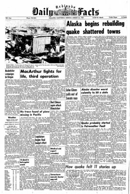 Redlands Daily Facts from Redlands, California on March 30, 1964 · Page 1