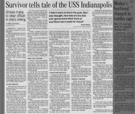 USS Indianapolis sinking retrospective with first-hand accounts, survivors looking to clear McVay