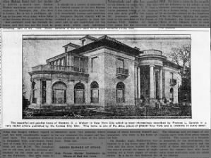 Newspaper image of Villa Lewaro, Madam C.J. Walker's New York mansion