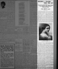 Biography of Madam C.J. Walker from 1916 with a picture