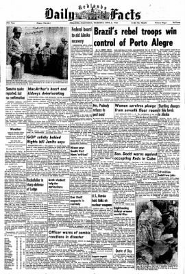 Redlands Daily Facts from Redlands, California on April 2, 1964 · Page 1