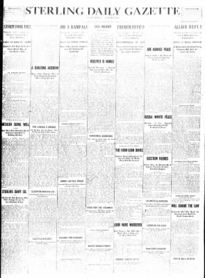 Sterling Standard from Sterling, Illinois on December 27, 1916 · Page 1