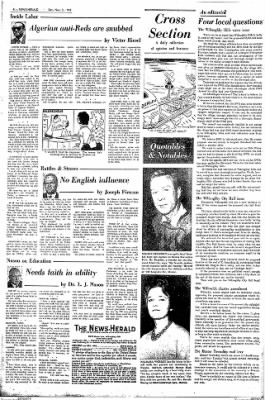 The News Herald From Willoughby Ohio On November 3 1962 Page 4