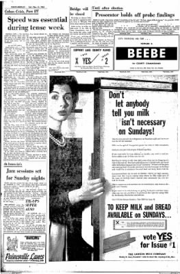 The News Herald From Willoughby Ohio On November 3 1962 Page 16