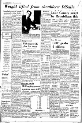 The News Herald From Willoughby Ohio On November 7 1962 Page 2