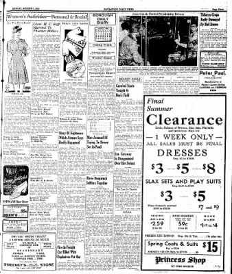 Naugatuck Daily News from Naugatuck, Connecticut on August 7, 1944 · Page 3