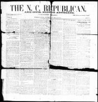 Sample The N.C. Republican and Civil Rights Advocate front page