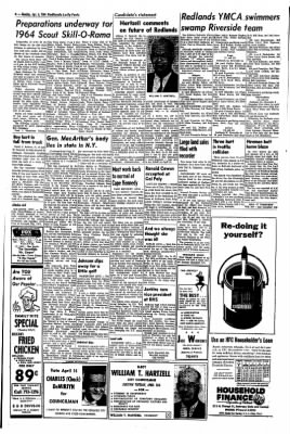 Redlands Daily Facts from Redlands, California on April 6, 1964 · Page 4