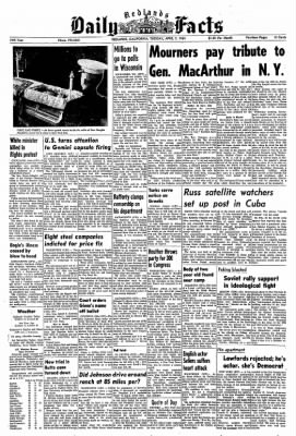 Redlands Daily Facts from Redlands, California on April 7, 1964 · Page 1