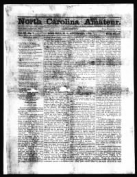 Sample North Carolina Amateur front page