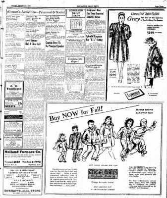 Naugatuck Daily News from Naugatuck, Connecticut on August 11, 1944 · Page 3