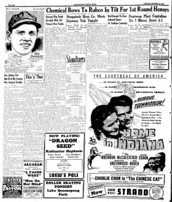 Naugatuck Daily News from Naugatuck, Connecticut on August 11, 1944 · Page 6