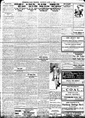 Fitchburg Sentinel From Fitchburg, Massachusetts On June 15, 1912 · Page 2