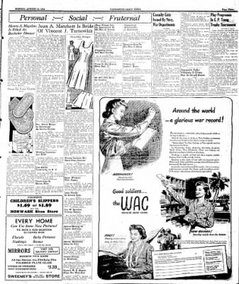 Naugatuck Daily News from Naugatuck, Connecticut on August 14, 1944 · Page 3