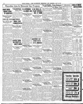 Quad City Times From Davenport Iowa On May 30 1927 Page 4