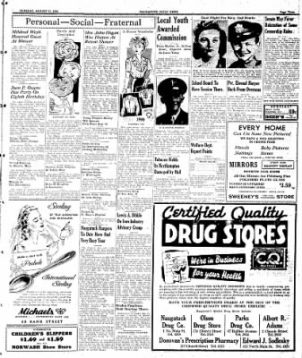 Naugatuck Daily News from Naugatuck, Connecticut on August 15, 1944 · Page 3