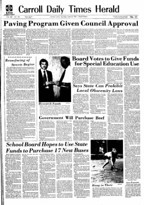 Carrol Daily Times Herald from Carroll, Iowa on June 18, 1974 · Page 1
