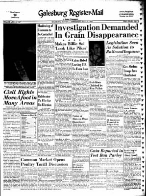 Galesburg Register-Mail from Galesburg, Illinois on July 17, 1963 · Page 1