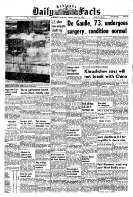 Redlands Daily Facts from Redlands, California on April 17, 1964 · Page 1