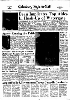Galesburg Register-Mail from Galesburg, Illinois on April 26, 1973 · Page 1