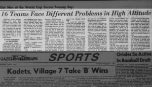 16 teams face different problems in high altitude during the 1970 World Cup