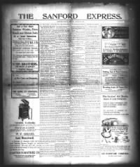 Sample The Sanford Express front page