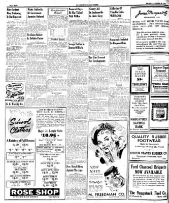Naugatuck Daily News from Naugatuck, Connecticut on August 25, 1944 · Page 8