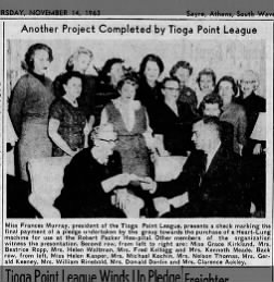 Tioga Point League 1963