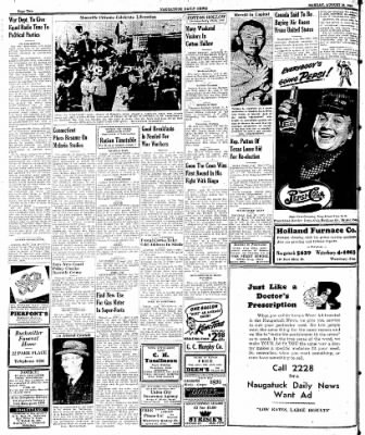 Naugatuck Daily News from Naugatuck, Connecticut on August 28, 1944 · Page 2