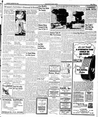 Naugatuck Daily News from Naugatuck, Connecticut on August 28, 1944 · Page 3