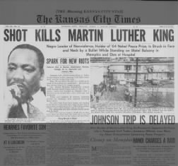 April 1968: M.L. King Jr. is killed in Memphis